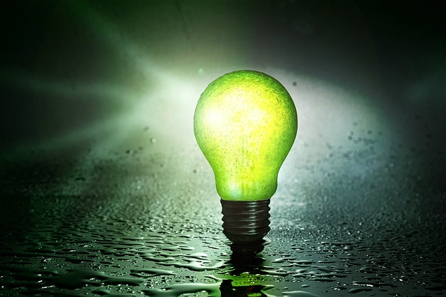 žárovka zelená