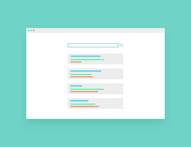 Internetový vyhľadávač, náčrt, vzor